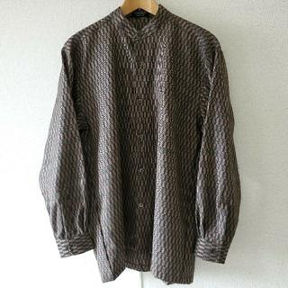 ジョンローレンスサリバン(JOHN LAWRENCE SULLIVAN)のヴィンテージ バンドカラーシャツ スタンドカラー ノーカラー 柄シャツ(シャツ)