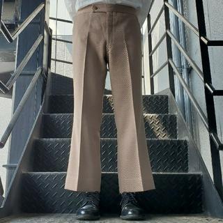 ジョンローレンスサリバン(JOHN LAWRENCE SULLIVAN)のヴィンテージ スラックス トラウザー フレアパンツ ベージュ(スラックス)