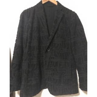 ISSEY MIYAKE - ISSEYMIYAKE MEN 16AW カットジャガードジャケット 黒色