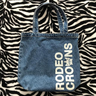 ロデオクラウンズ(RODEO CROWNS)の一店舗限定品 ロゴデニム トートバッグ(トートバッグ)
