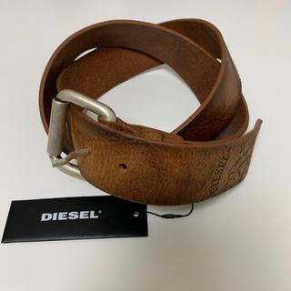 ディーゼル(DIESEL)のdms2118 DIESEL ディーゼル レザー ヴィンテージ加工 ロゴベルト(ベルト)
