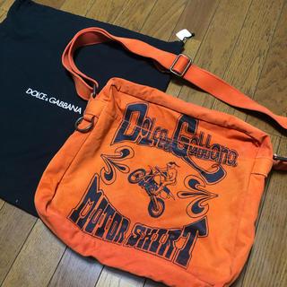 ドルチェアンドガッバーナ(DOLCE&GABBANA)のドルガバ オレンジ 布 ショルダーバッグ(ショルダーバッグ)
