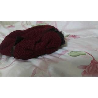 アクシーズファム(axes femme)の【axes femme】リボン付きベレー帽(ハンチング/ベレー帽)