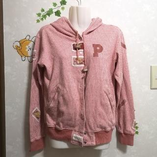 ピンクハウス(PINK HOUSE)の肌寒い春先に着たい❤️ピンクハウス クマ 前開き パーカー アウター フード付き(パーカー)