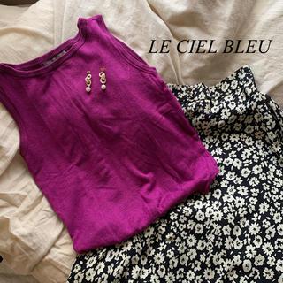 ルシェルブルー(LE CIEL BLEU)のLE CIEL BLEU ノースリニット(タンクトップ)