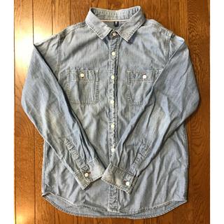 ジーユー(GU)の❤︎ GU 150 デニムシャツ ❤︎(ブラウス)