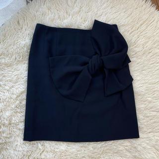 トランテアンソンドゥモード(31 Sons de mode)のトランテアン bigリボンスカート タイトスカート(ひざ丈スカート)