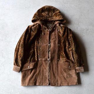 シュプリーム(Supreme)のPig Suede & Leopard Hood Coat(モッズコート)