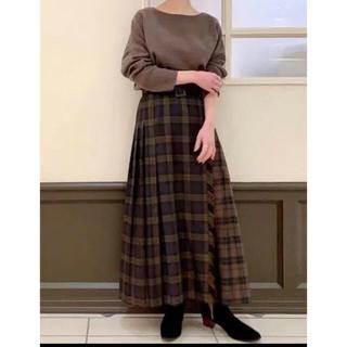 ココディール(COCO DEAL)のcocodeal チェックMIXプリーツラップスカート(ロングスカート)