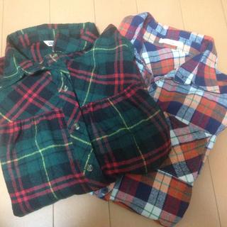 チェックシャツ 2点おまとめ(シャツ/ブラウス(長袖/七分))