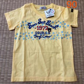 ダブルビー(DOUBLE.B)の【新品】ミキハウス★ダブルビー★Vネック半袖Tシャツ★90(Tシャツ/カットソー)