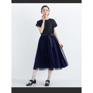 メルロー(merlot)のチュールドレス ワンピース(ミディアムドレス)