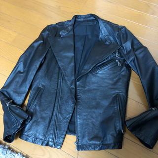 フーガ(FUGA)のFUGA(フーガ) 豚革 ライダースジャケット レザージャケット サイズ44 黒(ライダースジャケット)