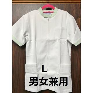 【値引】★新品★135★男女兼用半袖ジャケット★白衣★サイズL★247-22