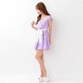 デイジーストア(dazzy store)のデイジーストア パープルAラインドレス(ナイトドレス)
