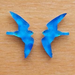 現品 青い鳥 ① イヤリング/ピアス(イヤリング)