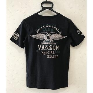 *バンソン Cottons 刺繍 半袖 カットソー Tシャツ 1