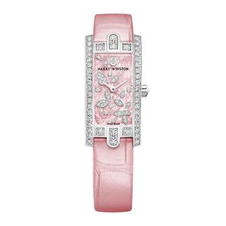 ハリーウィンストン(HARRY WINSTON)のハリーウィストンアヴェニューC ミニ リリー  クラスター ピンク(腕時計)