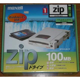 マクセル(maxell)のmaxell ZIPドライブ パラレルポートモデル ZIP-D100PA2(PC周辺機器)