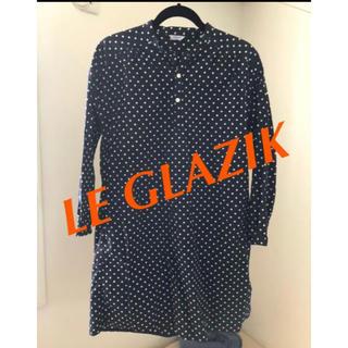 ルグラジック(LE GLAZIK)の⭕️レディース le glazic ドットシャツワンピース(ひざ丈ワンピース)