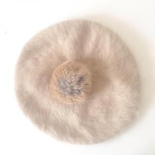 アースミュージックアンドエコロジー(earth music & ecology)のEarth♩アンゴラ混 ベレー帽(ハンチング/ベレー帽)