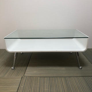 フランフラン(Francfranc)のガラステーブル センターテーブル ローテーブル リビングテーブル フランフラン(ローテーブル)