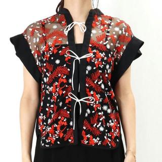 マメ(mame)のmame kurogouchi pedicel lace shirts マメ(シャツ/ブラウス(半袖/袖なし))
