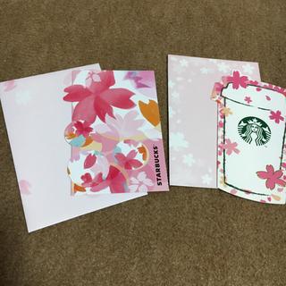 スターバックスコーヒー(Starbucks Coffee)のスタバ⭐︎桜ビバレッジカード⭐︎チケット無し(カード/レター/ラッピング)
