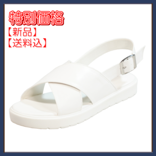 【再値下】ジェリーガール フラットサンダル ホワイト M(サンダル)