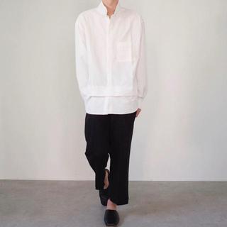 ジルサンダー(Jil Sander)の※残り一点!【新品未使用】レイヤード スタンドカラー デザインシャツ(シャツ)