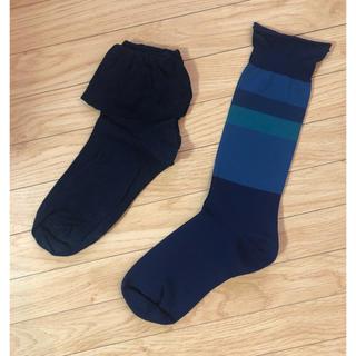 ジェーンマープル(JaneMarple)のあきづき様専用ジェーンマープル夏用ソックス靴下2点セットネイビー(ソックス)