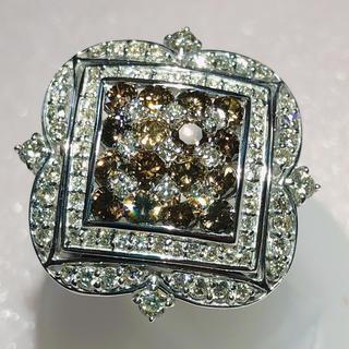 ☆極上の輝き☆ ブラウンダイヤリング ☆ ダイヤモンド k18 wg ホワイト(リング(指輪))