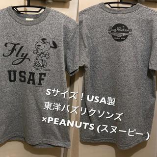 バズリクソンズ(Buzz Rickson's)のSサイズ!USA製 バズリクソンズ×PEANUTS (スヌーピー )古着半袖T(Tシャツ/カットソー(半袖/袖なし))