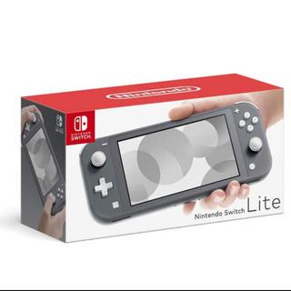 ニンテンドースイッチ(Nintendo Switch)の新品未使用 Nintendo switch lite グレー(家庭用ゲーム機本体)