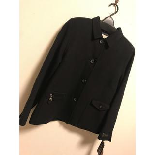 アンタイトル(UNTITLED)の42 ショート コート シンプル ブラック 黒 11号 l  秋冬 ウール m(ピーコート)