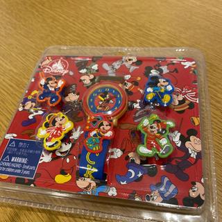 ディズニー(Disney)のミッキー ディズニー 腕時計 着せ替え 香港ディズニー キッズ 子供 未開封(腕時計)