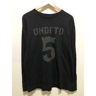 アンディフィーテッド(UNDEFEATED)のUNDEFEATED ロンT L UNDFTD ブラック(Tシャツ/カットソー(七分/長袖))