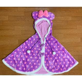 ディズニー(Disney)のディズニーランド ミニーマウス ポンチョ 羽織り 美品 ピンク(ポンチョ)