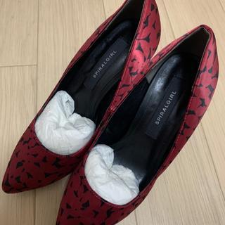 スパイラルガール(SPIRAL GIRL)のSPIRALGIRL スパイラルガール 靴 ハイヒール パンプス 赤 黒(ハイヒール/パンプス)