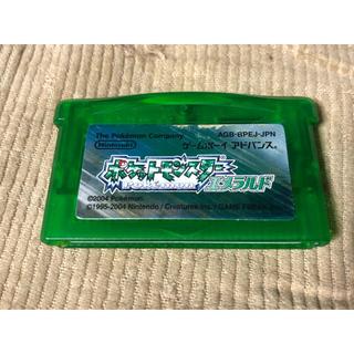 ゲームボーイアドバンス(ゲームボーイアドバンス)のポケットモンスターエメラルド(ふるびたかいずあり)(携帯用ゲームソフト)