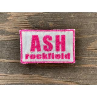 ASHロックフィールド パッチ 白ベース ピンク文字(個人装備)