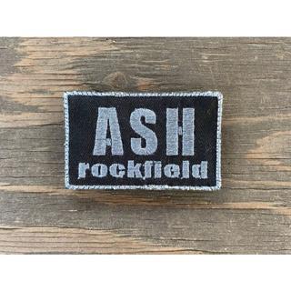ASHロックフィールド パッチ 黒ベース グレー文字(個人装備)