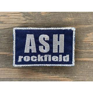 ASHロックフィールド パッチ ネイビーブルーベース 銀文字(個人装備)