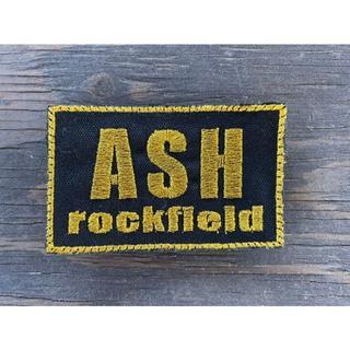 ASHロックフィールド パッチ 黒ベース 金文字(個人装備)