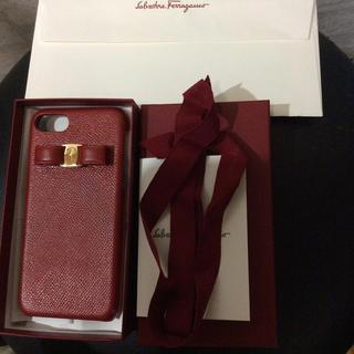 サルヴァトーレフェラガモ(Salvatore Ferragamo)のフェラガモ iPhone ケース 7、8用 赤(iPhoneケース)