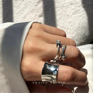 ビームス(BEAMS)のラスト1点/925silver cross ring  調節可(リング(指輪))