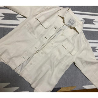 スタディオクリップ(STUDIO CLIP)のリネンミリタリーシャツ(その他)