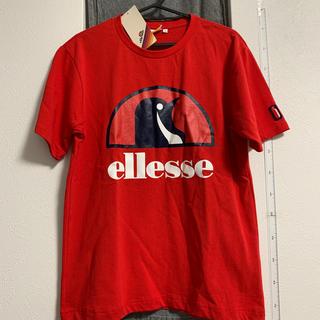 エレッセ トレーニングウェア 半袖 ビッグロゴTシャツ [ユニセックス]赤 新品