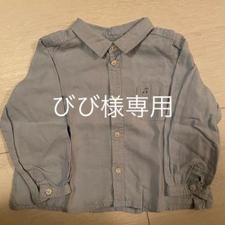 ボンポワン(Bonpoint)のBonpointさくらんぼ刺繍シャツ サイズ2(ブラウス)