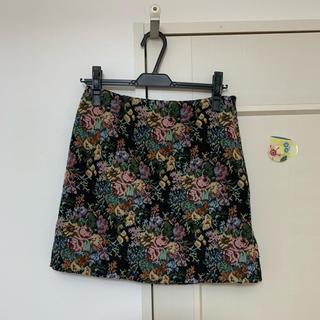ジーユー(GU)の花柄スカート 膝丈スカート GU ジーユー スカート(ひざ丈スカート)